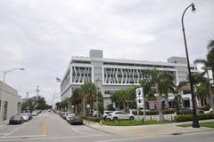 Miami plaża FL, Sierpień 09th: Art Deco Buduje od W centrum Miami plaży w Floryda Zdjęcia Stock