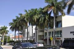 Miami plaża FL, Sierpień 09th: Art Deco budynków Miami w centrum plaża w Floryda Zdjęcia Stock