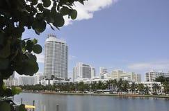 Miami plaża FL, Sierpień 09th: Art Deco budynki od Miami plaży w Floryda Fotografia Stock