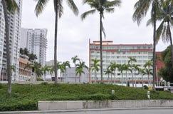 Miami plaża FL, Sierpień 09th: Art Deco budynki od W centrum Miami plaży w Floryda Zdjęcia Royalty Free