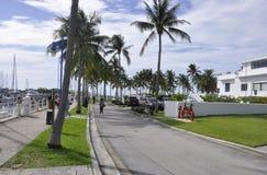 Miami plaża FL, Sierpień 09th: Frontwater deptak od Miami plaży w Floryda Obraz Royalty Free