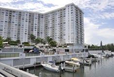 Miami plaża FL, Sierpień 09th: Frontwater hotel od Miami plaży w Floryda Obrazy Stock