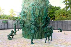 Miami plaża, FL, usa - Styczeń 10, 2014: Holokausta pomnik w Miami plaży, Floryda obrazy royalty free
