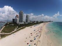 Miami plaża, Floryda widok z lotu ptaka Zdjęcie Stock
