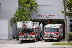 Miami Plażowy pożarniczy dział Zdjęcia Stock
