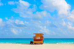 Miami plaży baywatch wierza południe plaża Floryda obraz royalty free