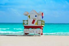 Miami plaży baywatch wierza południe plaża Floryda obrazy stock