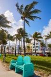 Miami plaży oceanu bulwaru art deco Floryda Zdjęcia Stock