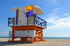 Miami plaży ratownik, usa Fotografia Royalty Free