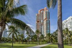 Miami, playa del sur, centro de la ciudad y Key Biscayne Foto de archivo