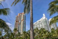 Miami, playa del sur, centro de la ciudad y Key Biscayne Fotos de archivo
