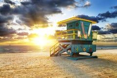 Miami południe plaży wschód słońca fotografia stock