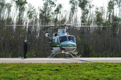 Miami police helicopter Stock Photos