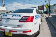 Miami-Polizeiwillkommen Sie Stockbild
