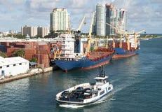 Miami Port Ferry Stock Photo