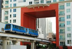 Miami Public Transportation Stock Photo