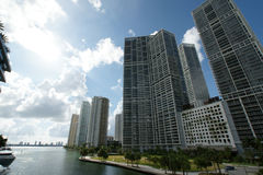 Miami River Building Royalty Free Stock Photography