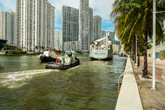 Miami River Stock Photo