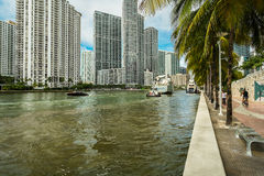 Miami River Royalty Free Stock Images