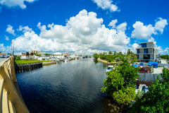Miami River Cityscape Royalty Free Stock Photo