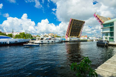 Miami River Cityscape Royalty Free Stock Photography