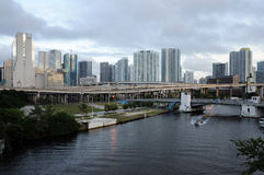 Miami River, Florida Stock Images