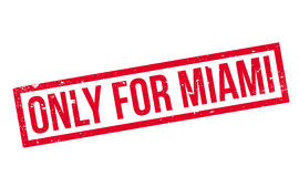 Only For Miami rubber stamp Royalty Free Stock Images