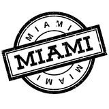 Miami rubber stamp Royalty Free Stock Image