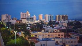 Miami-Südstrand-Dämmerung Stockfoto