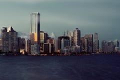 Miami-Schacht mit Jetskis Lizenzfreies Stockfoto