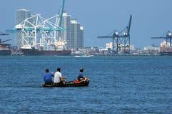 Miami seaport Stock Photo
