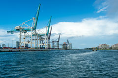 Miami Seaport Cargo Terminal Stock Images