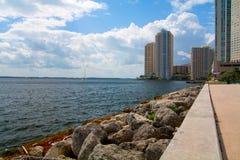Miami seglar utmed kusten Royaltyfri Foto