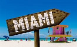 Miami sign on the beach.  Royalty Free Stock Photos