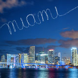 Miami in the sky Stock Images