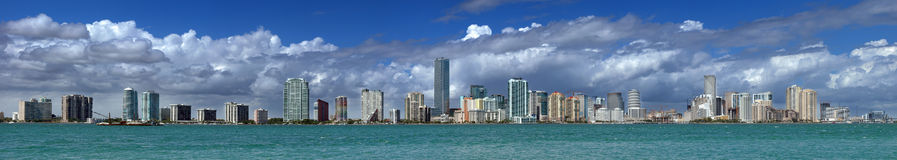 Miami Skyline Stock Photos