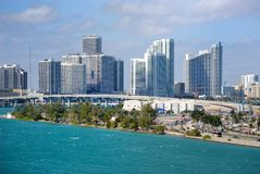 Miami Skyline Royalty Free Stock Image