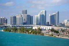 Miami-Skyline Lizenzfreies Stockbild