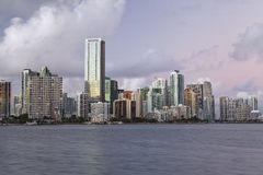 Miami-Skyline. lizenzfreie stockfotos
