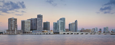 Miami-Skyline. stockfoto