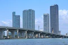 Miami-Skyline stockbilder