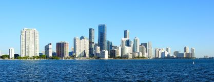 Free Miami Skyline After A Morning Winter Ride Royalty Free Stock Image - 135873246