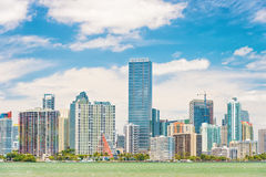 The Miami skyline on a beautiful day Royalty Free Stock Photos