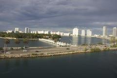 Miami Skyline Day Time Stock Image