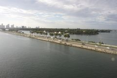 Miami Skyline Day Time 3. Shot of Miami Beach from cruise ship Royalty Free Stock Photography