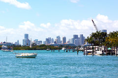 Miami skyline at daytime. Royalty Free Stock Images