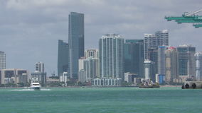 Miami skyline daytime in 4K stock video footage
