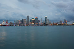 Miami Skyline Stock Photo