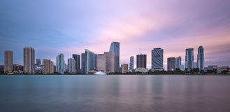 Miami Skyline Royalty Free Stock Photography