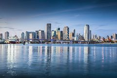 Miami Skyline. Miami, Florida, USA downtown skyline stock photography